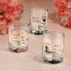I like the idea of shot glasses as favors.