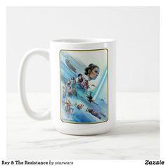Rey & The Resistance Coffee Mug Star Wars Mugs, Star Wars Gifts, Star Wars Store, Star Wars Design, Star Wars Merchandise, Blue Sky Background, Rebel Alliance, Chewbacca, Gift Store