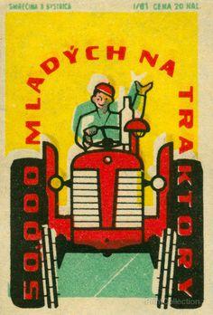 Matchbook from Czechoslovakia.