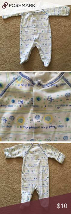 Kissy kissy adorable newborn fish print pajamas Kissy kissy adorable fish print pajamas size is newborn Kissy Kissy Pajamas