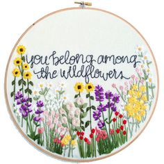 Hand Embroidery Kit // Wildflowers Hand Embroidery Pattern: Beginner Pattern, Flower Embroidery Hoop Pattern, Hoop Art, DIY Gift by KnottyDickens on Etsy https://www.etsy.com/listing/549951645/hand-embroidery-kit-wildflowers-hand