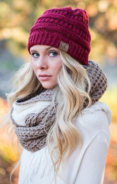 a22756967a2 CC Confetti Knit Beanie - Burgundy - ShopLuckyDuck Beanie Outfit