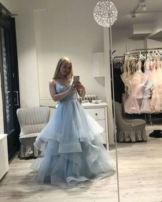 Elegant Tulle V-neck Straps Tiered Prom Dress, A Line Prom Dresses, Evening Dress T1749 by sweetdressy, $162.00 USD Sequin Prom Dresses, Elegant Prom Dresses, A Line Prom Dresses, Formal Dresses For Women, Cheap Prom Dresses, Evening Dresses, Wedding Dresses, Prom Gowns, Dress Prom