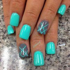 45 Inspirational Blue Nail Art Designs and Ideas #Nailartdesigns