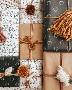 It's the time of year when all my childhood career aspirations (gift wrap lady at the mall 💁🏼♀️) come true! I usually get fancy for like Christmas Time Is Here, Merry Little Christmas, Noel Christmas, Christmas Wrapping, Winter Christmas, All Things Christmas, Christmas Gifts, Christmas Decorations, Xmas