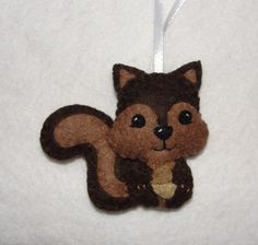 Cute Wool Felt Squirrel Ornament, Brown Squirrel, Baby Shower Gifts, Housewarming, Home Decor, Birthday Gift, Party Favors, Felt Animal by NitaFeltThings on Etsy