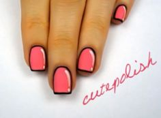 Como pintar unas uñas decoradas como si fueran cartoon!! by http://fashionfemme.com.ar/ para cutepolish #nailsart #nails #style