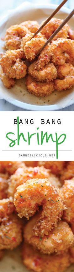 Bang Bang Shrimp - This tastes just like Cheesecake Factory's version, except it's way cheaper and so much tastier! Bangkok Shrimp Recipe, Shrimp Dinner Recipes, Frozen Shrimp Recipes, Cooked Shrimp Recipes, Shrimp Meals, Seafood Appetizers, Seafood Meals, Shrimp Dishes, Fish Dishes