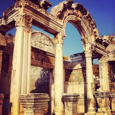 Incredible ruins from the Greek and Roman empires in Ephesus
