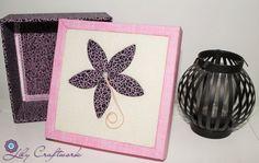 Caixa em MDF (madeira) trabalhada com tecido e patchwork embutido! Flor