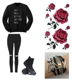 """""""Untitled #194"""" by luisalerman on Polyvore featuring Topshop and Converse"""