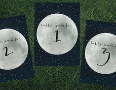 Constellation Lunar Moon Table Number // DIY by blacklabstudio