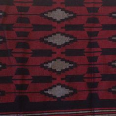 Nepali Cotton Black Red Shawl Wall Hanging by HimalayanArtGallery