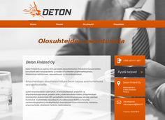 Konsultointiyritys Deton Finland Oy:n kotisivut on toteutettu Kotisivukoneen Avaimet käteen -palvelun avulla.