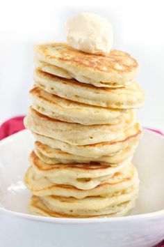 If you're trying to find a Pancake Recipe to make the BEST fluffy pancakes, look no further! This easy pancake recipe is tried and true!