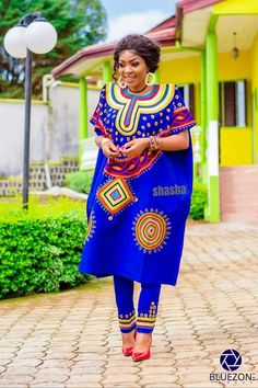 Sha Sha New designs drops her latest collection of Traditional Wedding Outfits for African couples. African Wear Designs, African Wear Styles For Men, African Style, African Women, Traditional African Clothing, Traditional Fashion, African Clothes, Latest African Fashion Dresses, African Attire