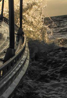 The salty sprays ride... Bornholm, July 2015