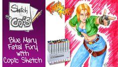 Blue Mary Sketch with Copics - Sketch Crás