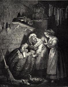 Cinderella, cenicienta Gustave Doré,  1897.