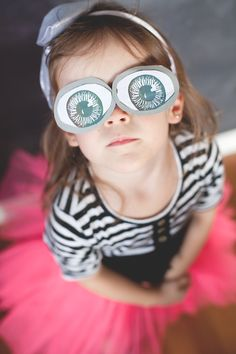 silly eyes - fun party blind fold template