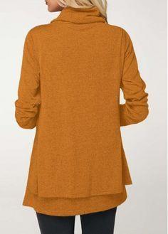 Long Sleeve Cowl Neck Ginger T Shirt  64ea213c5c