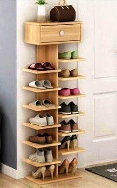 36 Delightful Diy Shoe Rack Design Ideas To Keep Your Shoes Nicely Diy Shoe Storage, Diy Shoe Rack, Craft Room Storage, Storage Ideas, Shoe Racks, Storage Hacks, Creative Storage, Closet Storage, Storage Shelves