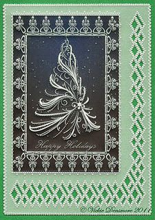 Handcrafted Parchment Craft Christmas Card...my own design