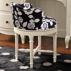 Pottery Barn. Swivel vanity stool. | ideas for our Home ...