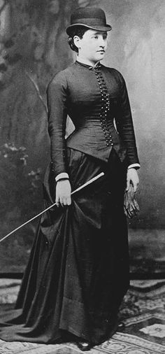 Riding habit - Bertha Pappenheim in 1882 in Austria or Germany