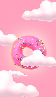 Flying Pink Donut – Wallpaper für iPhone – Think Pink - Yanna's Donuts Laden Whats Wallpaper, Food Wallpaper, Wallpaper Panels, Kawaii Wallpaper, Tumblr Wallpaper, Pink Wallpaper, Galaxy Wallpaper, Screen Wallpaper, Wallpaper Backgrounds