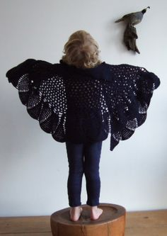 Crochet winged sweater. mor mor rita