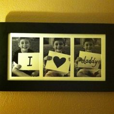cute father's day gift idea...could put in new pictures each year :)