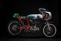 The motorcycle is a 1975 Ducati 350, and it features artwork inspired from the Studio Ghibli film. pic Via www.elsolitariomc.com. Made by http://elsolitariomc.com/motorcycles/mononoke/ #ride #share #connect on www.motortourer.com