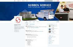 Custom Social Media Graphics Design for Sudden Services Heating and Air  by CI Web Group