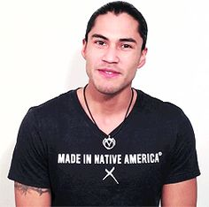 The sexy and ridiculously charming model Martin Sensmeier might make you weak. | 29 GIFs That Might Get You Pregnant