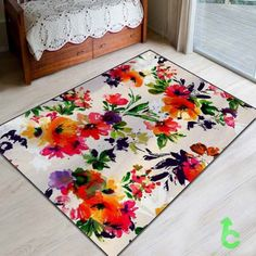New Bright Floral Pattern Blanket