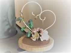 Wedding ring hanger by Helmchen_fire Diy Wedding Ring, Ring Holder Wedding, Ring Pillow Wedding, Handmade Wedding, Engagement Decorations, Wedding Ceremony Decorations, Flower Centerpieces, Wedding Centerpieces, Engagement Ring Platter