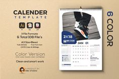 Calander Template ITEM DESCRIPTION : Very stylish, clean and modern calendar template. This calendar template is fully vector graphic. Wall Calender, Calander, Stationery Templates, Stationery Items, Business Brochure, Business Card Logo, Marketing Information, Business Company, Environmental Graphics