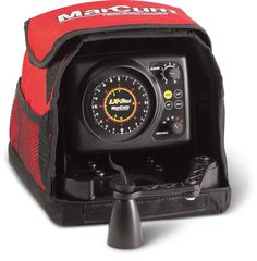 Marcum LX-3tci Sonar Flasher System, Red/Black. 2,000-watts a to a output power. 20-Degree transducer. Exclusive true-color display - provides the best resolution and the most vivid display on the market. Deluxe padded soft pack included. 12-Volt 9-amp Battery included, and 3-stage automatic Battery Charger also included. Made in the USA with quality components sourced around the world. Two year Warranty.