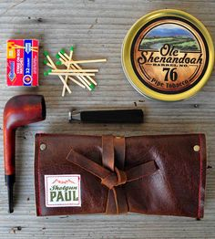 Leather Tobacco Pipe Pouch by Shotgun Paul on Scoutmob Shoppe