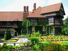 Back in August we visited Cecilienhof Palace, an English Tudor-style palace in Potsdam, Germany, not far from Berlin. Brandenburg Germany, Potsdam Germany, World's Most Beautiful, Beautiful Places To Visit, Beautiful Homes, Frederick The Great, German Village, Germany Castles, Royal Residence