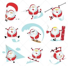 Extreme Santa  #GraphicRiver         Cartoon extreme Santa set 1. EPS 10. Separate layers     Created: 6March13 GraphicsFilesIncluded: JPGImage #VectorEPS Layered: Yes MinimumAdobeCSVersion: CS Tags: active #board #cartoon #character #christmas #coffee #comic #cup #diving #draw #extreme #fun #isolated #jump #man #paragliding #roller #santa #simple #ski #skier #skiing #skydiver #snowboard #snowflake #splash #sport #vector #wave #winter
