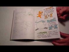 Sketchbook 01 - Kit Umscheid (pen and ink, markers, highlighters, watercolor)