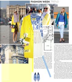 """""""Fashion Week Trend: bright coat!"""" by minnie-me on Polyvore"""