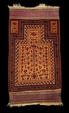 Culture Baluchi people Creation date 19th Century/MID Collection Textiles Materials wool | Camel Hair Dimensions 29 x 52 in. | 73.7 x 132.1 cm.
