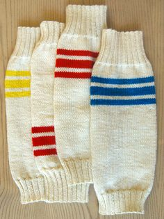 Whit's Knits: Tube Sock LegWarmers - The Purl Bee - Knitting Crochet Sewing Embroidery Crafts Patterns and Ideas!