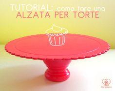 Il Bel Mangiare: Come realizzare un'alzata per torta - TUTORIAL http://ilbelmangiare.blogspot.it/2013/06/tutorial-alzata-portatorta-fai-da-te.html