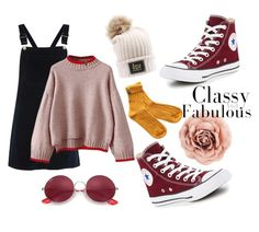 """""""Untitled #7"""" by ramirjoy on Polyvore featuring Topshop, Converse and Ray-Ban"""