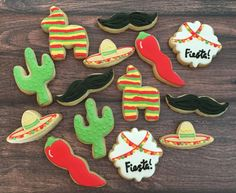 Cinco De Mayo Cookies  Mexican Fiesta by MilkandHoneyCakery