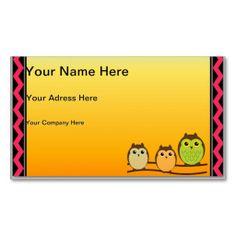 Owls Business Card Templates #Owl #Bird #BusinessCard